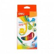 Creioane colorate 12 culori Deli Color Emotion C002 00