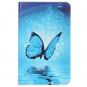Samsung Galaxy Tab A 10.1 (2016) T580, T585 Glam Flip Case - Blue Butterfly