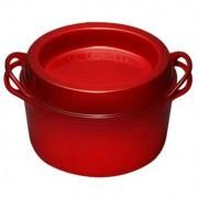 Le Creuset Cocotte fonte rond Doufeu 24 cm 4,3 L rouge Le Creuset