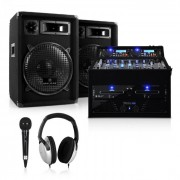 Set Dj PA Rack Star Sol Lightning 1200W