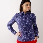 Női sötét kék ing Willsoor virágos / növényes 10625