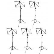 Conjunto com 05 Estantes Retráteis para Partituras - Vector