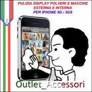 Pulizia Eliminazione Polveri Sporco Macchie Residui Display Vetro Touch Interne Iphone 3g 3gs