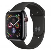 Apple Watch Series 4 GPS + Cellular 40mm Aço Inoxidável Preto Sideral com Bracelete Desportiva Preta
