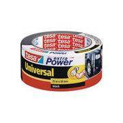 tesa extra power universal, 25m x 50mm, gewebeverstärktes Folienband, schwarz