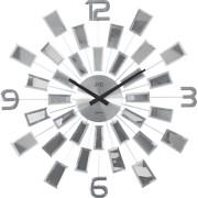 Luxusní paprskovité skleněné zrcadlové hodiny JVD HT100.1 - průměr 50cm