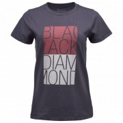 Black Diamond Women`s S/S Bd Block Tee T-shirt (XL, nero/grigio)