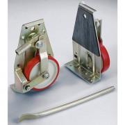 Certeo Hubroller - Räder mit Polyurethanbandage, Lieferumfang 2 Roller, 1 Hubstange - Tragfähigkeit 1000 kg / Garnitur
