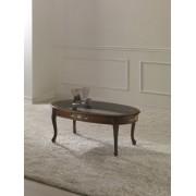 Ovális kisasztal fa felülettel