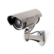 Nedis Övervakningskameraattrapp, bulletkamera, IP44, grå