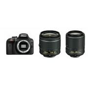 Nikon D3400 AF-P 18-55 VR AF-S 55-200 VR II KIT DSLR Digitalni fotoaparat 18-55mm f/3.5-5.6 55-200mm f/4-5.6 VR APS-C DX VBA490K001-1 VBA490K001-1