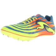 PUMA Men's TFX Sprint V4 Track and Field Shoe, Metallic Blue/Fluorescent Yellow/Fluorescent Peach, 10. 5 M US