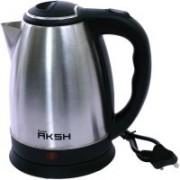 SURYA AKSH SOLID STAINLESS STEEL BODY Electric Kettle(1.8 L, Black, Metallic)