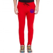 Cliths Men's Red Blue Zeep Printed Sports Jogger