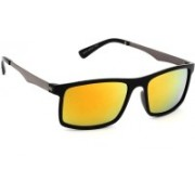 Eyeland Rectangular Sunglasses(Yellow, Orange, Multicolor)