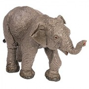 Safari Ltd Wild Safari Wildlife - Asian Elephant Baby - Realistic Hand Painted Toy Figurine Model - Quality Construction from Safe and BPA Free Materials - For Ages 3 and Up
