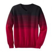 Gestreepte trui met kleurverloop, 48/50 - marine/rood
