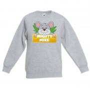 Shoppartners Sweater grijs voor kinderen met muisje Mighty mike