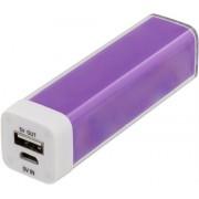 Deltaco Power bank 2600mAh USB 5V 1A, lila