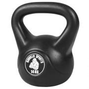 Gorilla Sports clone_Kettlebell 14 kg zwart kunststof