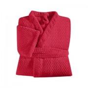 Roupao Adulto Hedrons -Plush Tweed Vermelho G