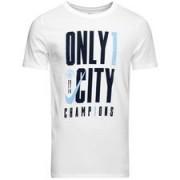 Manchester City T-shirt Premier League Winnaar 2017/18 - Wit/Blauw