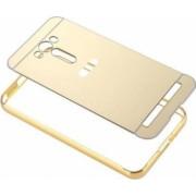 Husa Bumper Aluminiu Mirror Auriu Iberry Pentru Asus ZenFone 2 Laser 5.0 ZE500KL