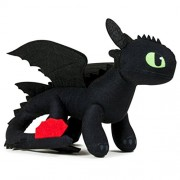 "Dreamworks Dragons Action Dragon 8"" Plush Toothless (with Additional Plush Spikes) Action Figure"