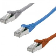 Patch cable S/STP Cat.6 2m Krone, Or/Blue/Gray