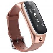 Multifunctional Smartwatch %26 Bluetooth Headset M6 - Rose Gold