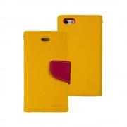 Mercury Goospery Fancy Diary Wallet Case for iPhone 5/5S/SE - Yellow