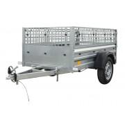 Remorque Garden Trailer 200 Unitrailer, 200 x 106 avec grilles PTAC 500 kg