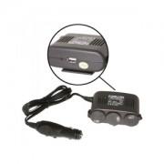 3-Way socket 12V + USB incl. mounting plate