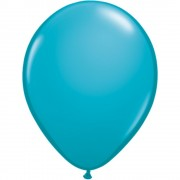 Balon Latex Tropical Teal, 5 inch (13 cm), Qualatex 43605, set 100 buc