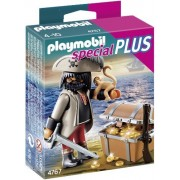 Playmobil Gloomy Pirate with Treasure Chest, Multi Color