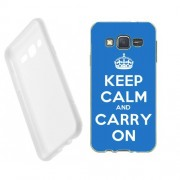 Husa Samsung Galaxy J5 J500 Silicon Gel Tpu Model Keep Calm Carry On