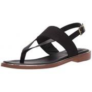 Clarks Women's Ellis Opal Sandal, Black Leather, 6.5 M US