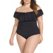 La Blanca Off the Shoulder One-Piece Swimsuit BLACK