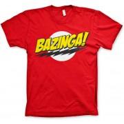 THE BIG BANG - T-Shirt BAZINGA Super Logo - Red (S)