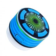 Outdoor BT Wireless Speaker Built-in Mic IPX7 Waterproof Speakers with FM Radio & LED Mood Light - Dark Blue