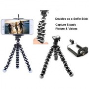 Octopus Mini Flexible Tripod for iPhone Samsung All Mobile Phones Smartphone Tripod Camera Accessory (6.3 Inch)