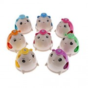 MonkeyJack Colorful 8 Tones Cute Mouse Hand Bells Desk Rhythm Bell for Kids Musical Instrument Toys Gift