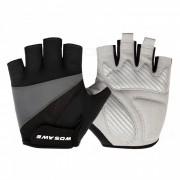 WOSAWE Unisex antideslizante medio dedo guantes para el ciclismo - Negro (L)