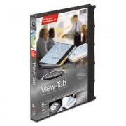 "View-Tab Presentation Round Ring View Binder W/tabs, 5/8"" Cap, Black"