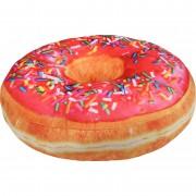 Geen Pluche sprinkels donut kussen fuchsia 40 cm Roze