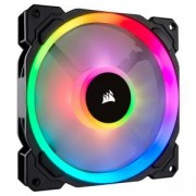 Вентилатор за кутия Corsair LL140 RGB 140mm Dual Light Loop RGB LED PWM Fan, Single Pack, Black, CO-9050073-WW