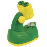 Insect Lore Kid's Microscope - 8x Magnifying Glass with LED Light - Includes Four Butterfly Life Cycle Slides