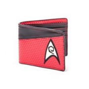Portofel Star Trek Engineering Logo Red Bifold
