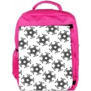 Snoogg Eco Friendly Canvas Star Pattern Grey Designer Backpack Rucksack School Travel Unisex Casual Canvas Bag Bookbag Satchel 5 L Backpack(Pink)