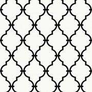 RoomMates Peel & Stick Wallpaper Modern Trellis White RMK9018WP